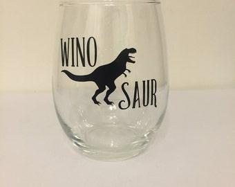 Winosaur T-Rex Stemless Wine Glass