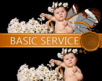 Basic Service in Photoshop / Small adjustments / I can help you in what you don't know / Birthday invitation, baptism, parties, etc.