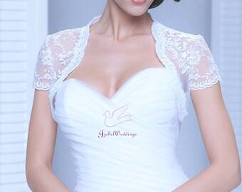 Bridal bolero lace short sleeve