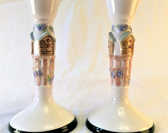 Ceramic Candlestick Holders
