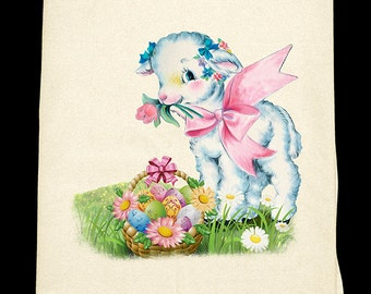 Little Lamb Easter Flour Sack Towel