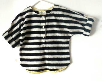 Boys  shirt,handloom cotton, ikat shirt ,black and white,casual, cotton, sizes 3yrs to 8yrs