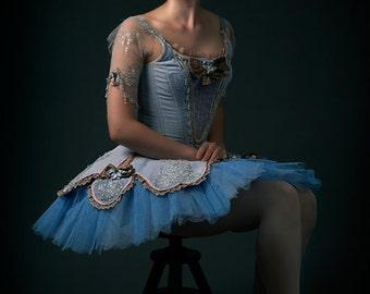 Blue dress Ballerina Art Print