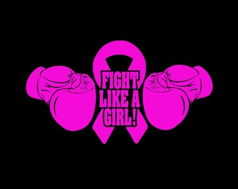 Fight Like A Girl Decal