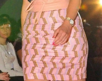 Wax right skirt size 40 pink color