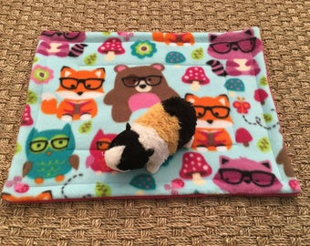 Guinea Pig Lap Pad Nerdy Woodland Animals Fleece Cuddle Blanket
