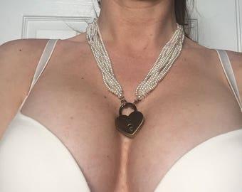 Locking Pearl BDSM Day Collar