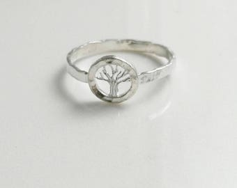 Hammered Ring - Tree of Life
