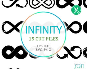 Infinity Svg, Infinity Sign. Infinity Clipart, Infinity Decal, Print And Cut Svg, Svg For Cricut, Scrapbooking Die Cuts, Cuttable Svg, Eps