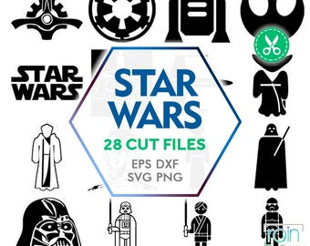 Star Wars Svg Files, Star Wars Clipart, Star Wars Silhouette, Star Wars Decal, Commercial Use Svg, Svg Silhouette, Svg Cuts, Vector Clipart