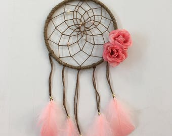 Brown and pink dream catcher
