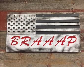 Metal American BRAAAP Flag