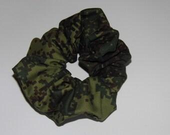 Hair ruffle / scrunchie camouflage / camo military