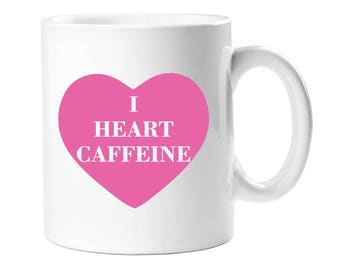 Coffee Mug - I Heart Caffeine Coffee Mug  - WCM11OZ-A1254G