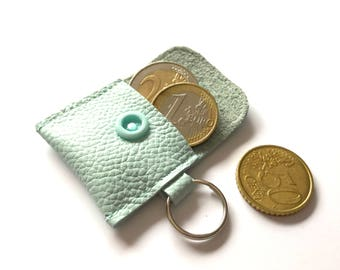 Mini wallet made of leather in color of your choice