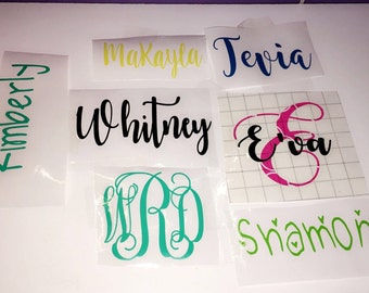 Name Sticker, Vinyl Name Decal, Vinyl Letters, Car Decal, Wall Decal, Custom Vinyl Decal