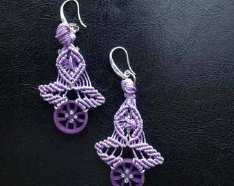 Lilac earrings.