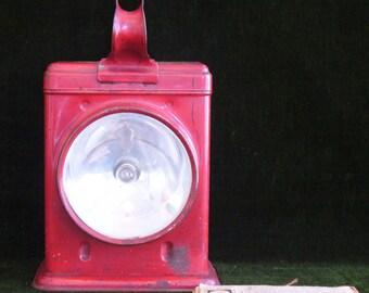 Vintage Railroad Lantern Delta Apollo Electric Lantern by the Delta Electric Company