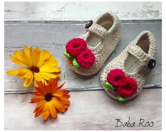 Handmade Baby Crochet Shoes