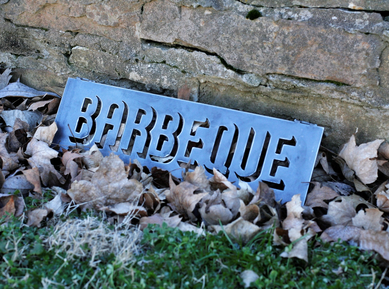 18 Inch Metal Letters 18 Inch Metal Barbeque Sign Rustic Barbecue Letters