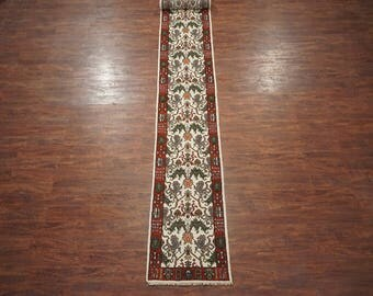 Persian 3X20 Lion Mahal Runner Traditional Hand-Knotted Wool Oriental Area Rug (2.6 x 19.9)