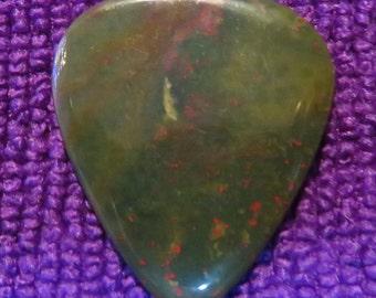 Bloodstone Gemstone Guitar Pick, Stone Guitar Pick