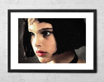 Leon the Professional - Mathilda - Painting - Leon Movie - Natalie Portman - Film Poster - Movie Poster - Movie Prints - Mathilda Poster