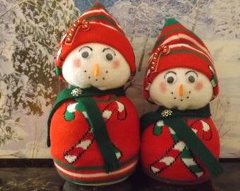Candy Cane, Mom-Pop Snow Couple!