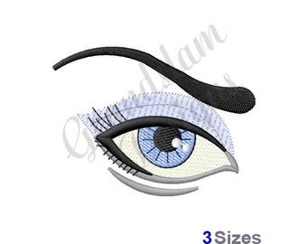 Eye & Brow - Machine Embroidery Design