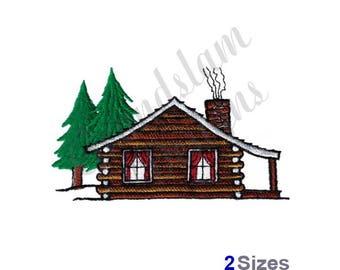Log Cabin - Machine Embroidery Design