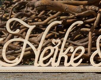 Wooden letters freestanding lettering XXL