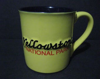 Yellowstone National Park Coffee Mug, 3-D Yellowstone Souvenir Mug