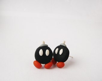 Bob-Omb earrings