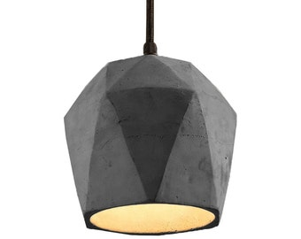 Modern Concrete Pendant Light, Urban Industrial Vintage Retro Lamp, Futuristic Minimalist Scandinavian Cement Ceiling Chandelier