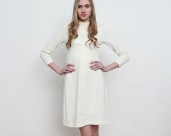 Vintage White Mini Dress/ Size XS