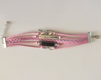 Multirangs in cords and charms bracelet