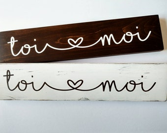 Sign wooden you and me / wood sign / rustic chic / love /.