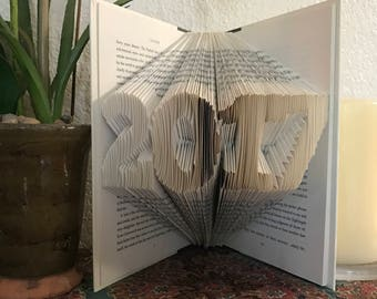 Folded Book Art 2017 Graduation Gift Customizable College Grad