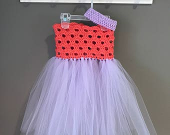 Crochet bodice with tutu dress