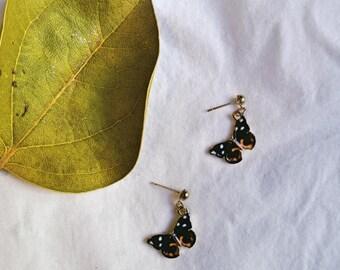 Handmade Orange Blue Green Purple or White Butterfly Earrings  Ask a question