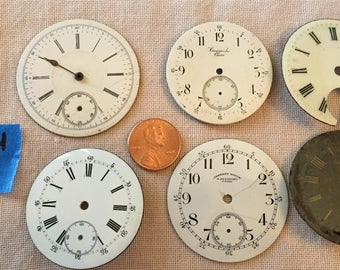 6 Antique Clock Faces - lot 9