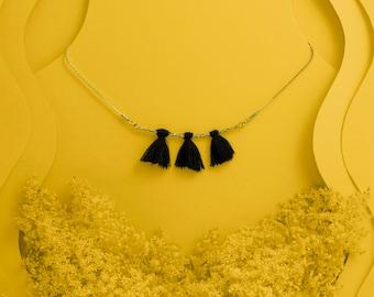 """Pompon necklace """"Maïwenn"""""""