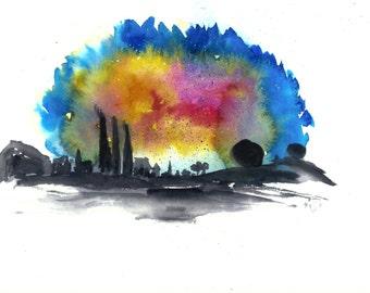 A nebula we call home - Original Painting -