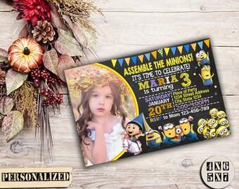 Minion Invitation / Minion Birthday / Minion Party / Minion Birthday Invitation / Minion Party Invitation / Minion Printable / Minion Invite