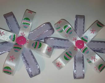 Easter ribbon hair bows