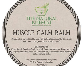 Muscle calm balm for arthritis , achey muscles, sport , pain  relief