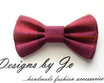 Mens Bow Tie, Formal Bow Tie, Suit Bowtie, Maroon Plaid,Prom Bow Tie, Wedding Bow Tie, Mens Fashion Accessories, Bow Tie, Mens Bowtie, M657