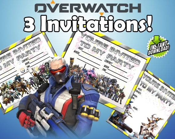3 Overwatch Party Invitations