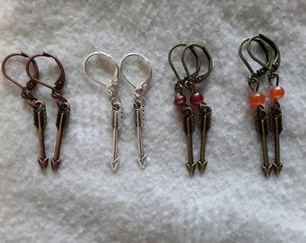 Leverback Arrow Earrings