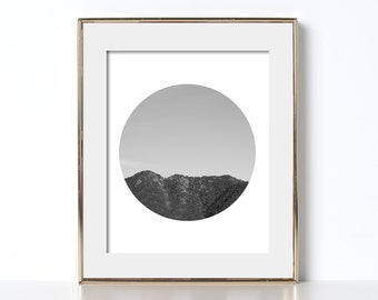 Nature Poster Digital Download Nature Lover Poster Gift for Nature Lover Printable Art Mountain Print Mountain Art Photography Circle Art
